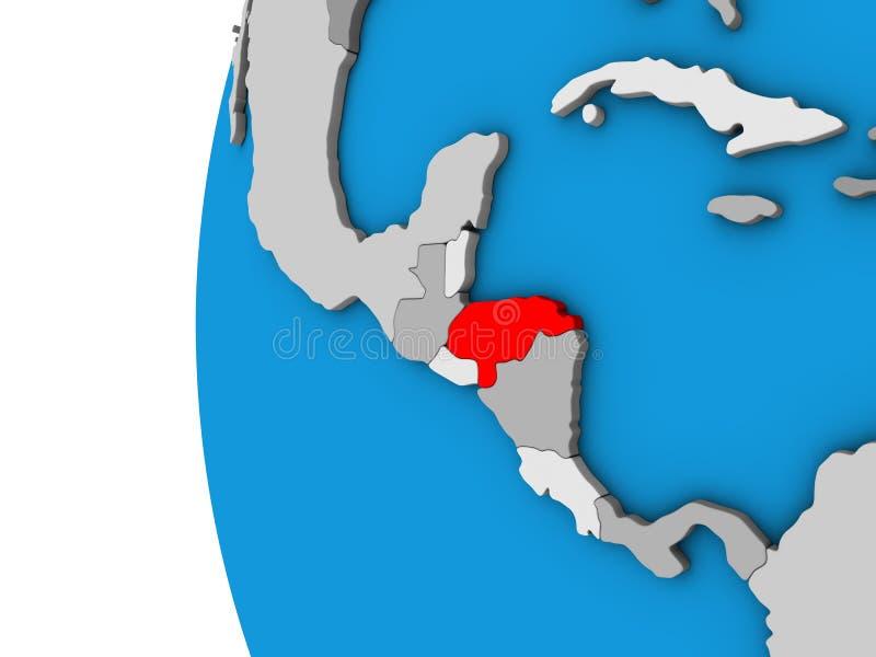 Le Honduras sur le globe 3D illustration libre de droits