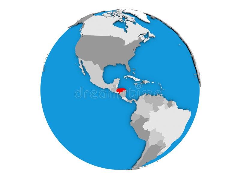 Le Honduras sur le globe d'isolement illustration libre de droits