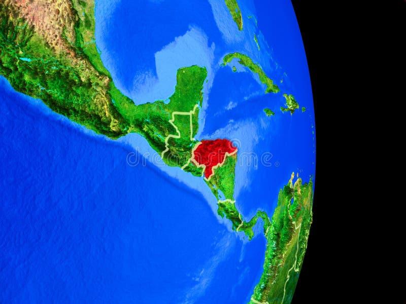 Le Honduras sur le globe de l'espace illustration libre de droits