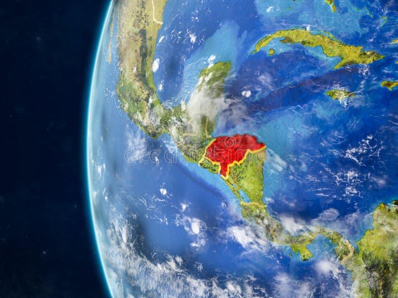 Le Honduras sur le globe de l'espace illustration de vecteur