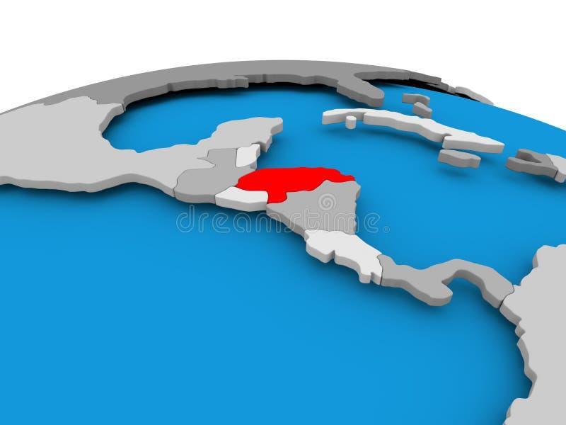 Le Honduras sur le globe politique illustration libre de droits