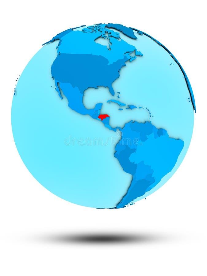 Le Honduras sur le globe politique bleu illustration libre de droits