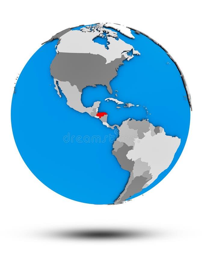 Le Honduras sur le globe politique d'isolement illustration libre de droits