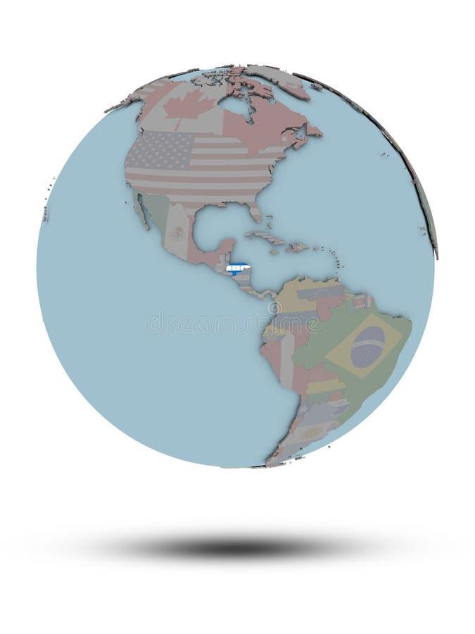 Le Honduras sur le globe politique d'isolement illustration de vecteur