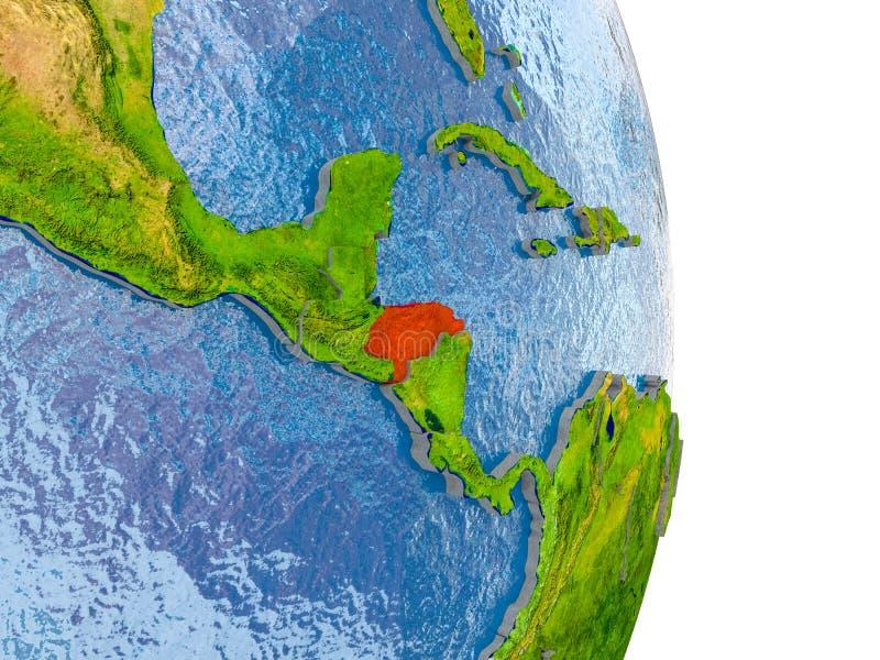 Le Honduras sur le globe réaliste illustration stock