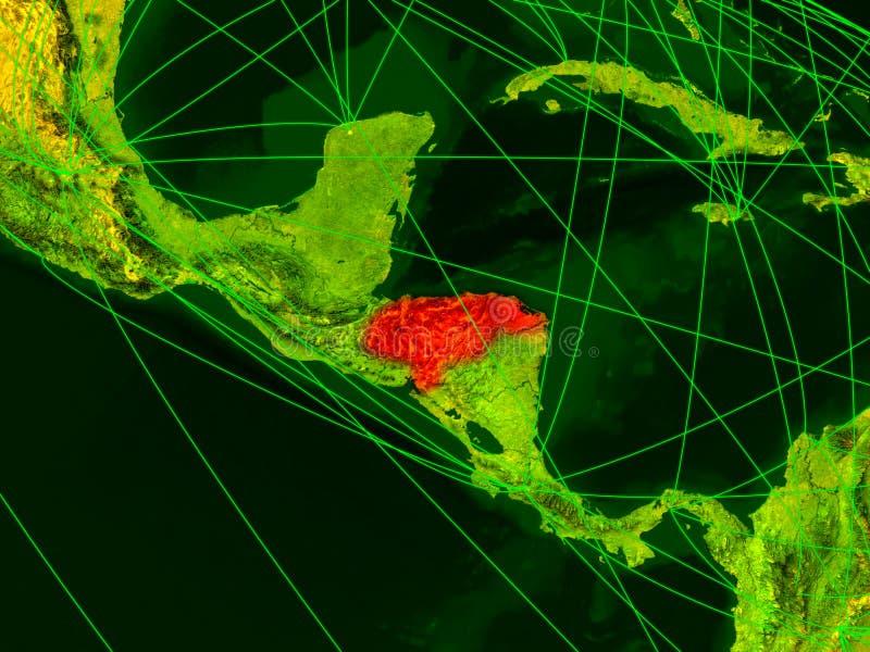 Le Honduras sur la carte numérique illustration de vecteur