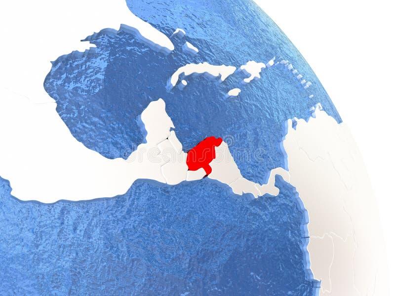 Le Honduras sur le globe élégant illustration stock