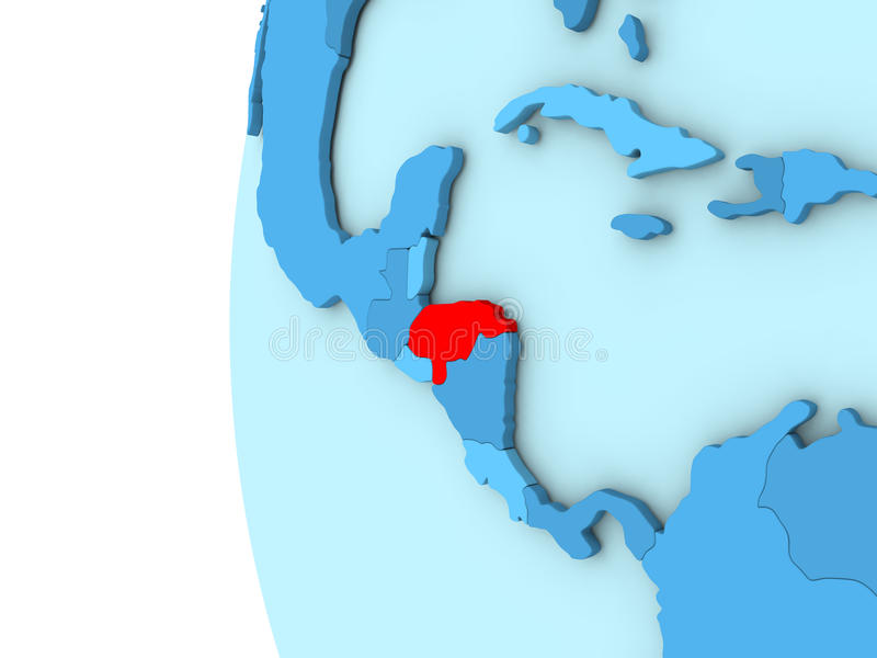 Le Honduras sur le globe bleu illustration de vecteur