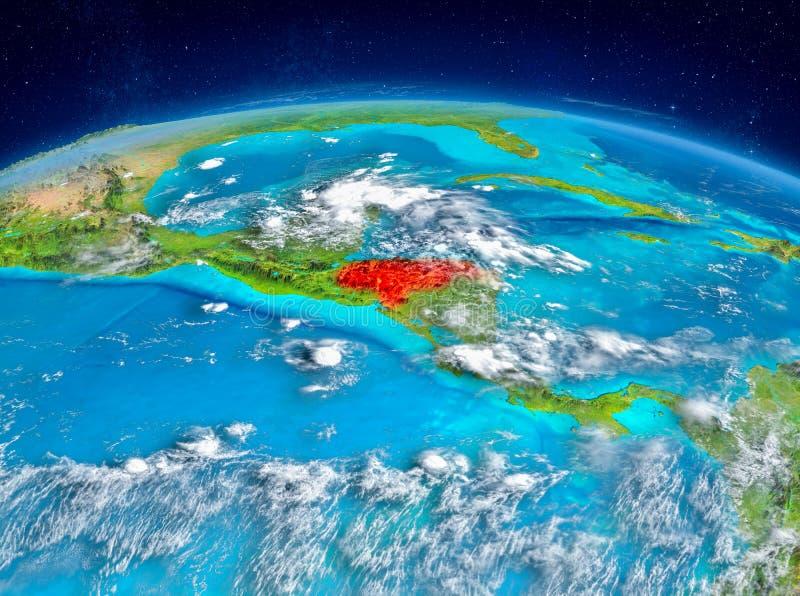 Le Honduras sur terre illustration libre de droits