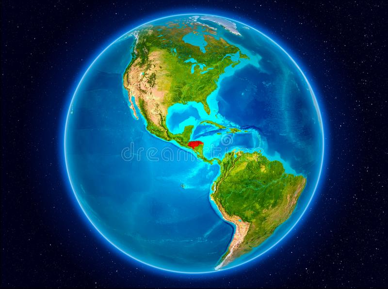 Le Honduras sur terre illustration stock