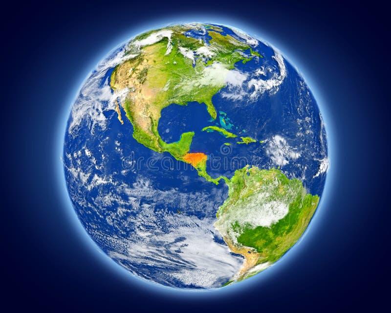 Le Honduras sur terre de planète illustration libre de droits