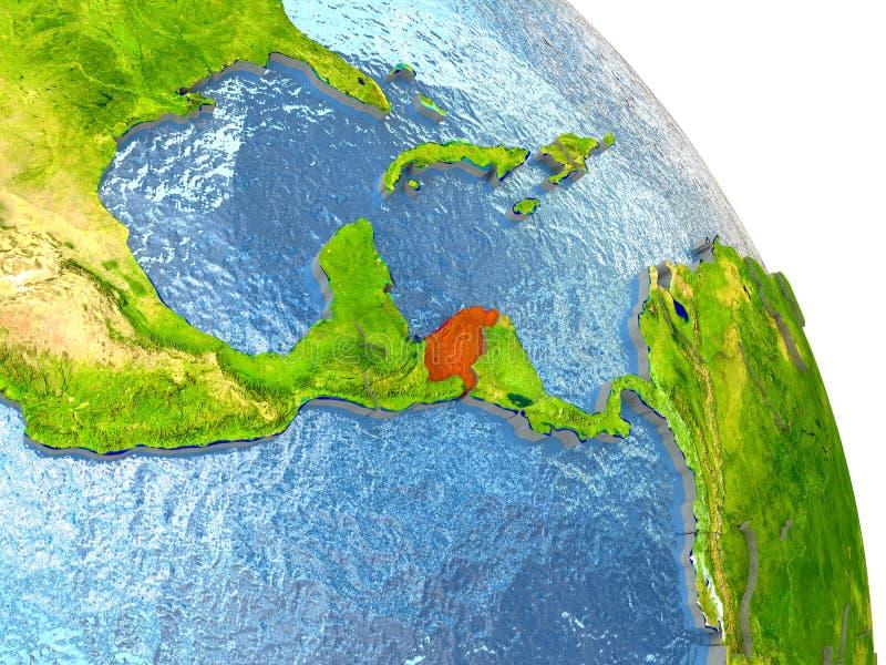 Le Honduras sur terre en rouge illustration libre de droits