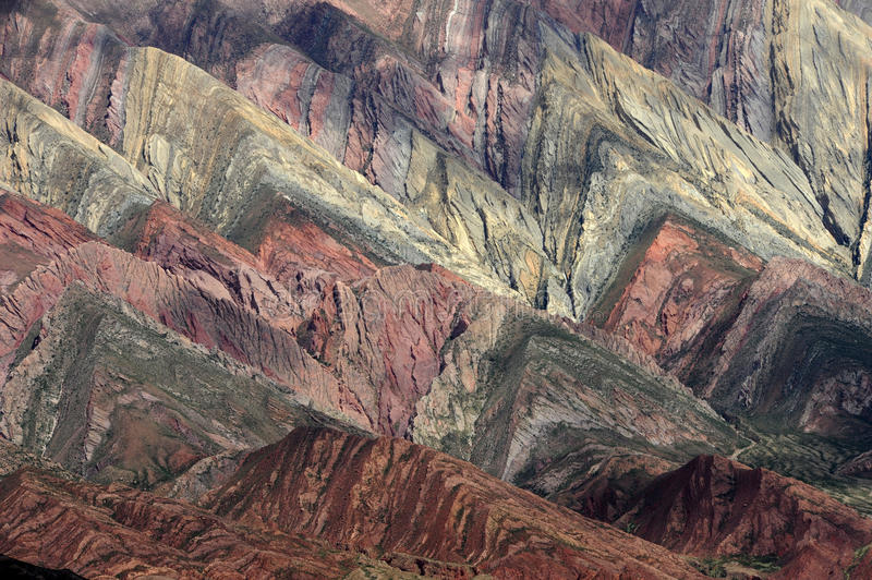 Le Hornocal Humahuaca proche massif sur l'Argentine a images stock