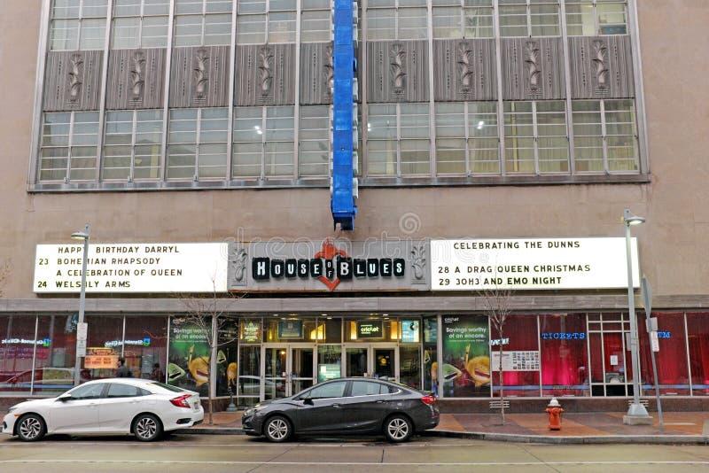 Le House of Blues sur l'avenue d'Euclid à Cleveland du centre, Ohio, Etats-Unis photographie stock libre de droits