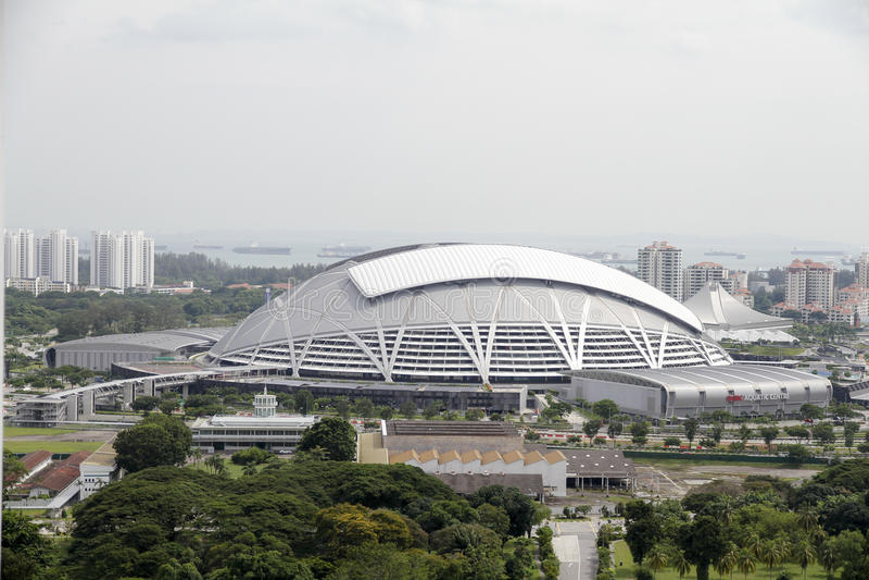 Le hub de sports de Singapour photographie stock libre de droits