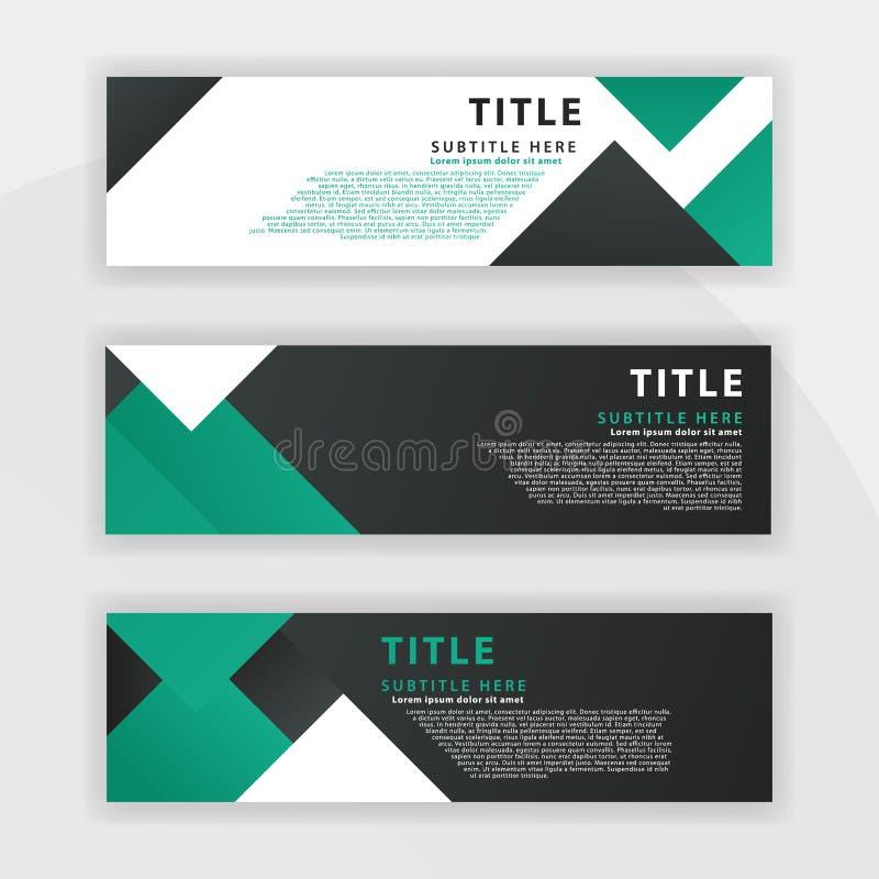 le huitième ensemble de Benner est couleur vert-foncé, approprié aux sociétés professionnelles a conçu pour être en ligne comme d illustration stock