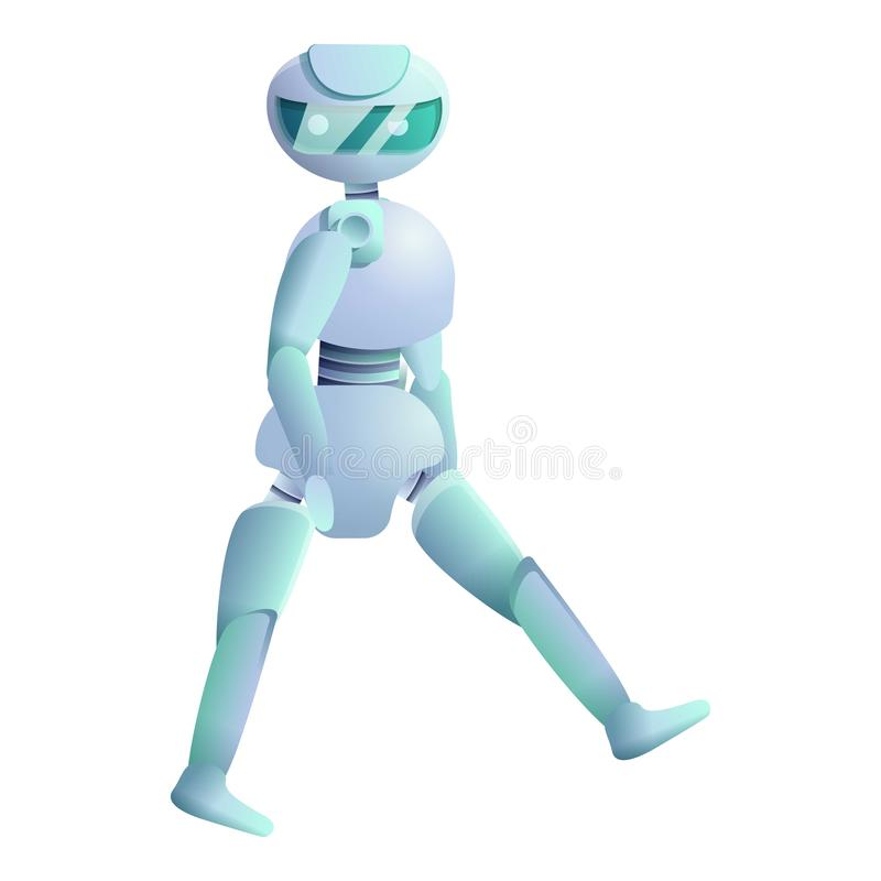 Le humanoïde marche l'icône, style de bande dessinée illustration de vecteur