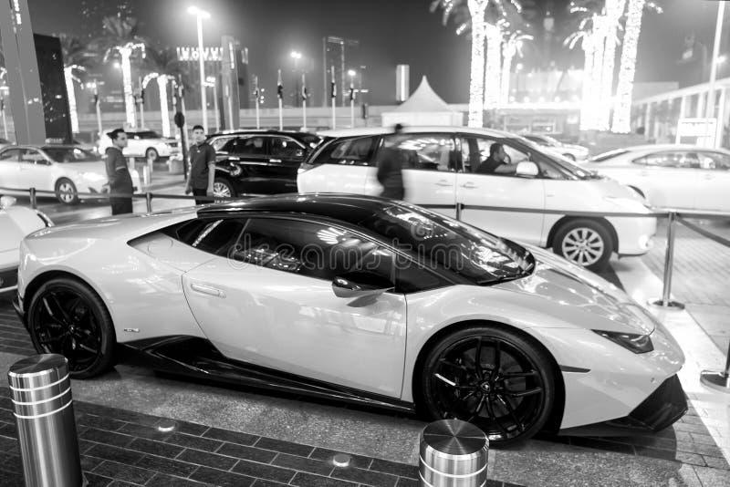 Le huricane de Lamborghini de Supercar greeen la couleur images libres de droits