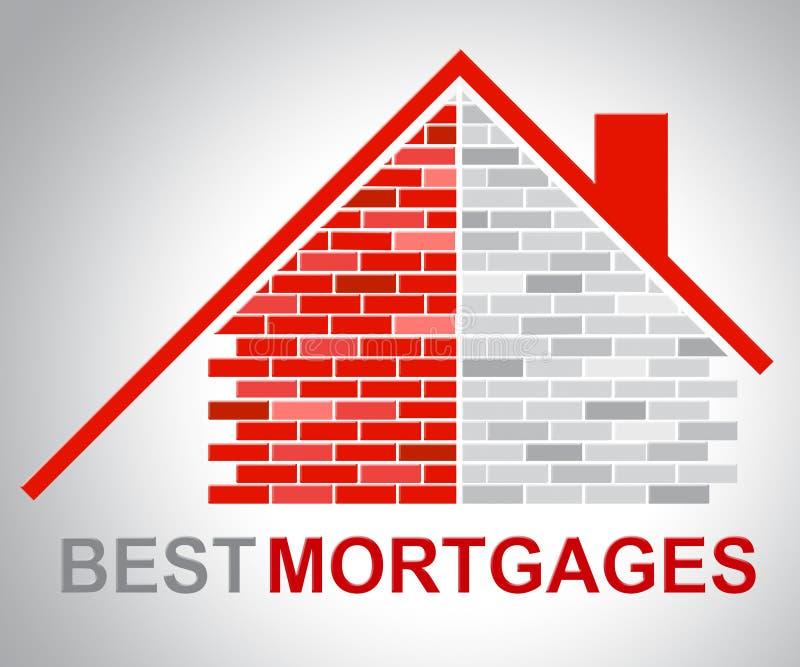 Le i migliori ipoteche rappresenta Real Estate e migliore illustrazione vettoriale