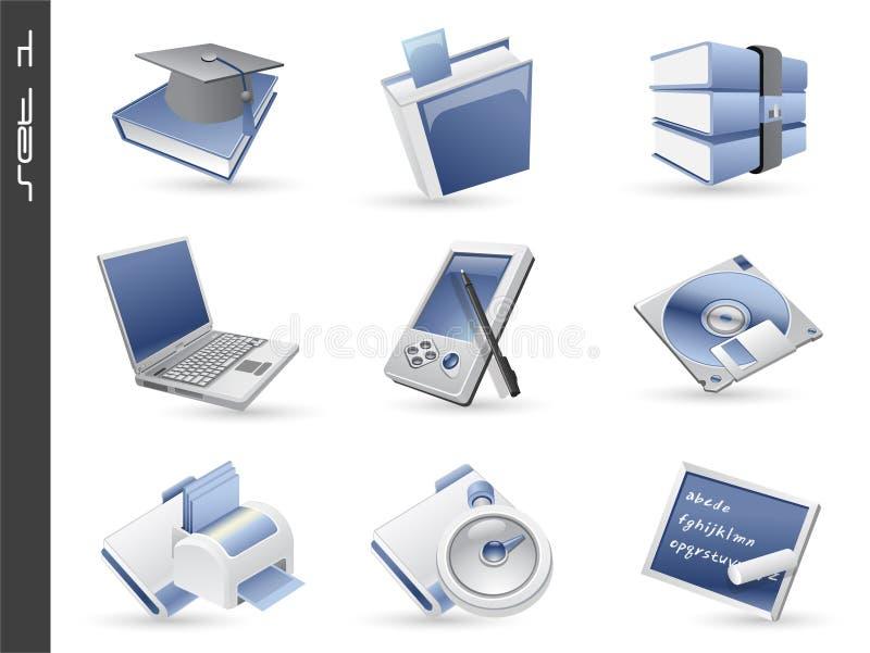 le icone 3d hanno impostato 01 fotografia stock libera da diritti