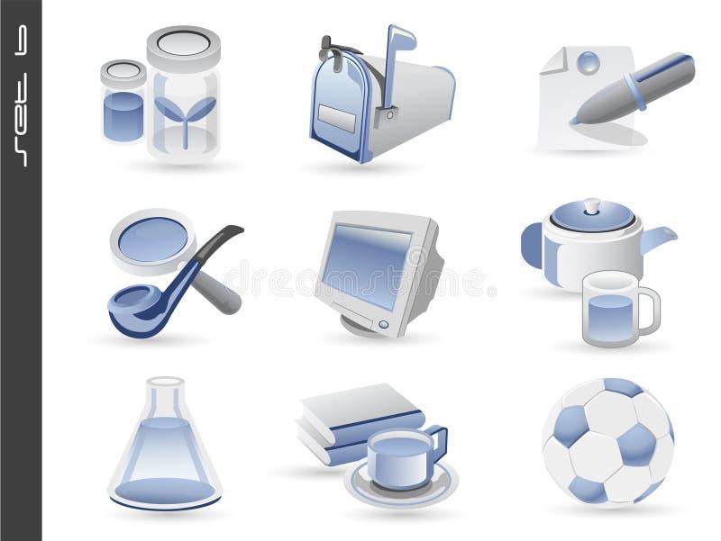 le icone 3d hanno impostato 06 fotografia stock