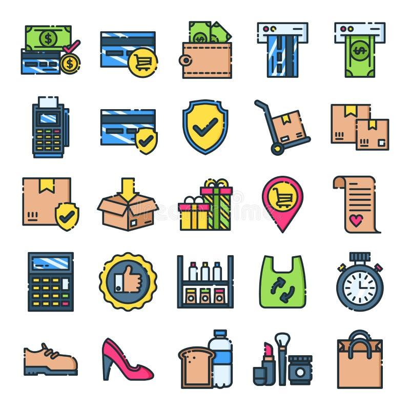 Le icone al minuto imballano royalty illustrazione gratis