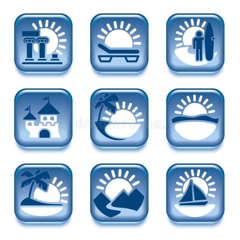 Icone delle attività di estate royalty illustrazione gratis
