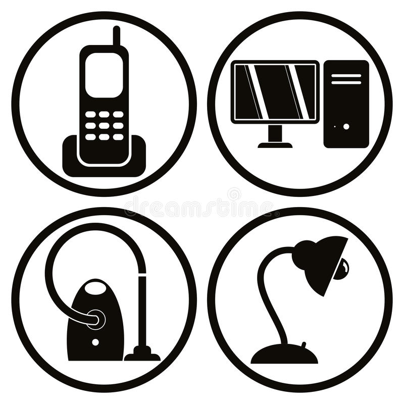 Le icone degli elettrodomestici hanno messo 1 royalty illustrazione gratis
