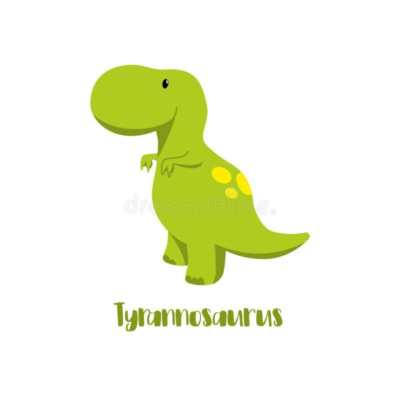 Le icone del dinosauro nello stile piano per la progettazione del Dino fanno festa, festa dei bambini, materiali riferiti dinosau illustrazione vettoriale