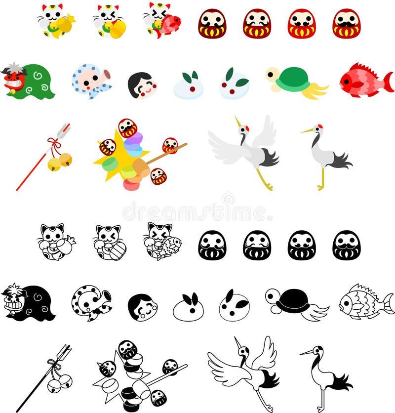 Le icone del nuovo anno royalty illustrazione gratis