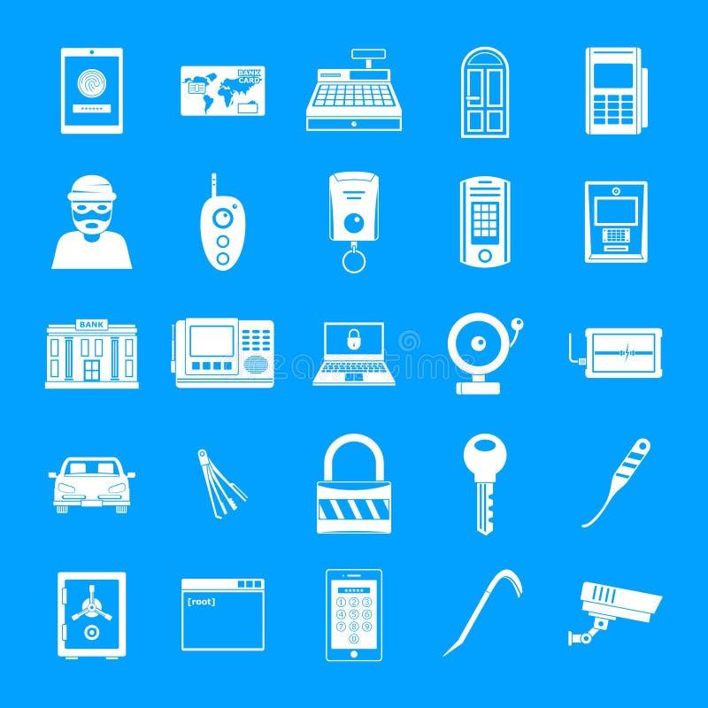 Le icone del plunderer del ladro dello scassinatore hanno messo, stile semplice illustrazione vettoriale