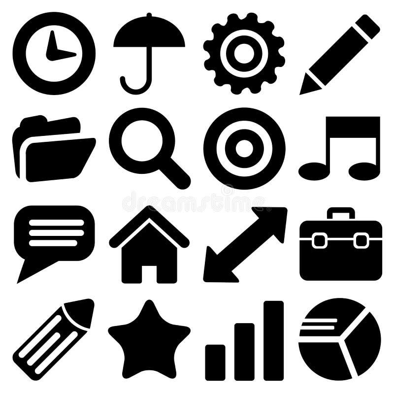 Le icone del sito Web messe grandi per c'è ne usano Vettore eps10 royalty illustrazione gratis