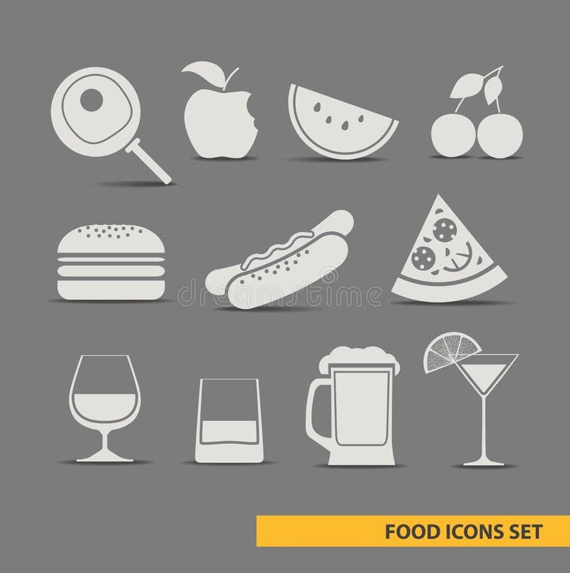 Le icone dell'alimento hanno impostato royalty illustrazione gratis