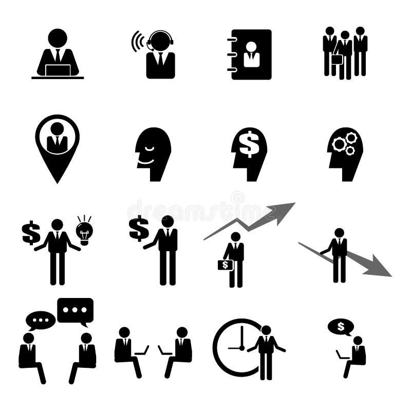 Le icone di affari, della gestione e della risorsa umana hanno fissato l'ENV 10 illustrazione vettoriale