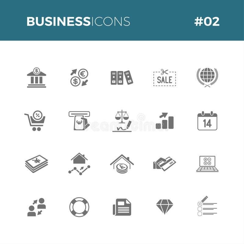 Le icone di affari hanno messo #02 royalty illustrazione gratis