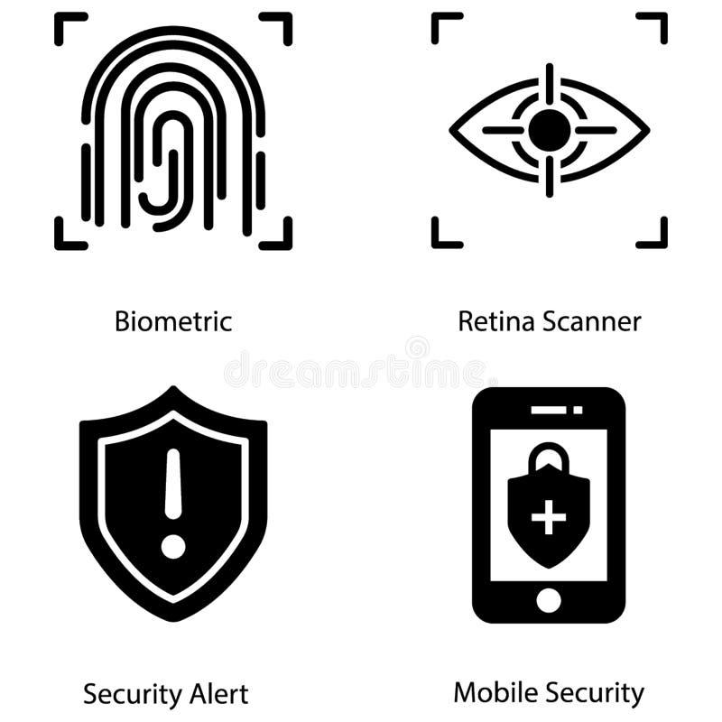 Le icone di antivirus impacchettano illustrazione vettoriale
