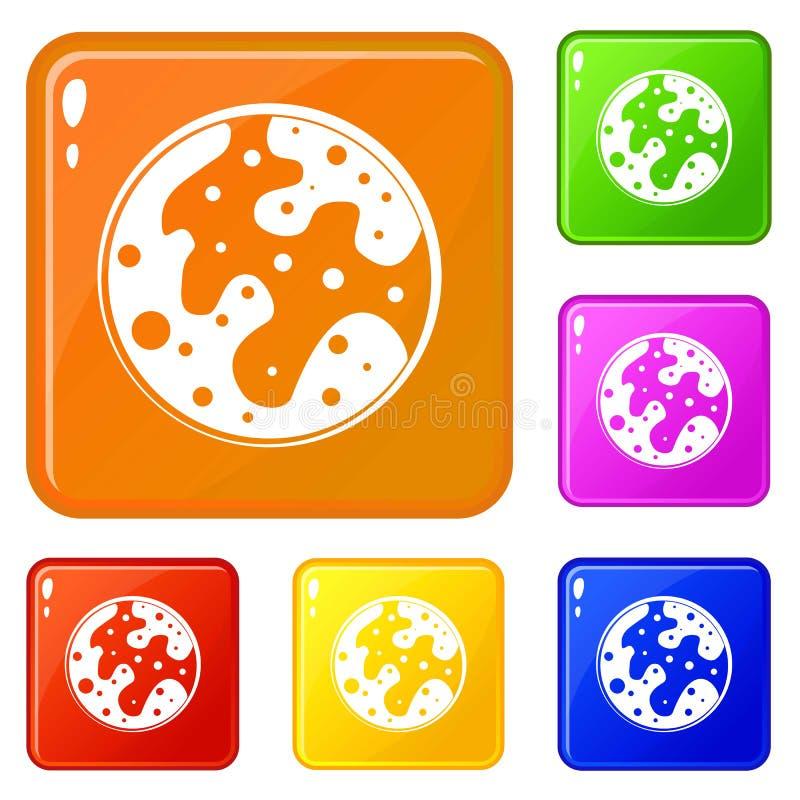 Le icone di Marte hanno fissato il colore di vettore royalty illustrazione gratis