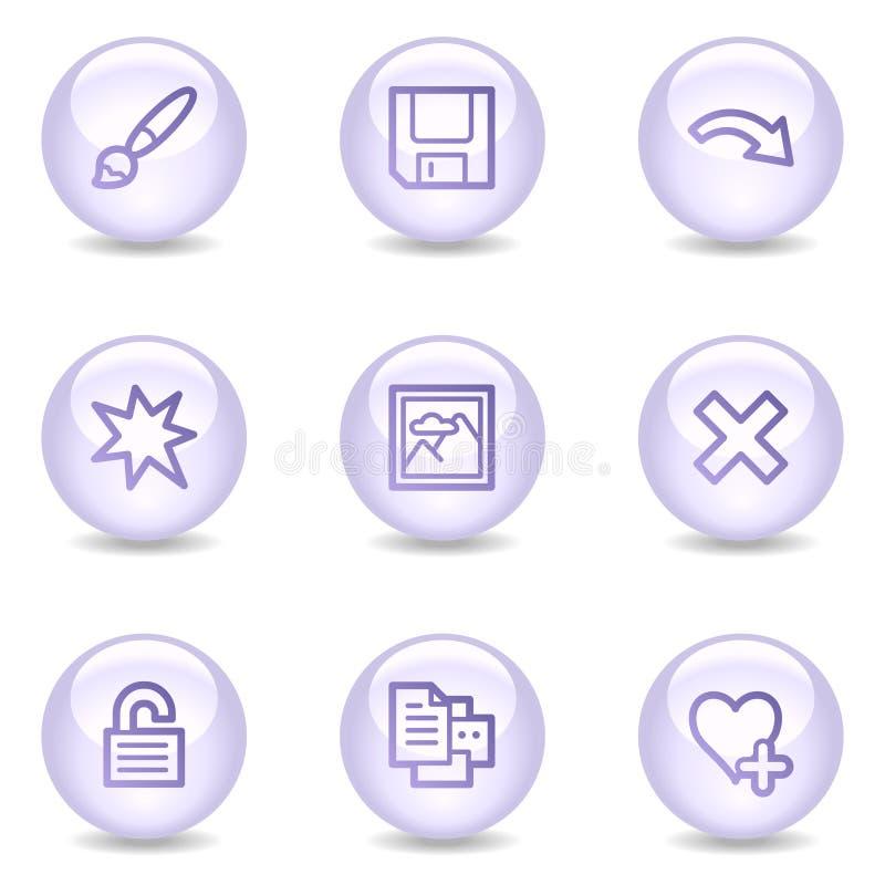 Le icone di Web del visore di immagine, serie lucida della perla hanno impostato 2 royalty illustrazione gratis