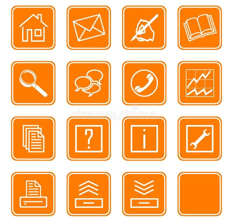 Le icone di Web hanno impostato no.2 - orange.2 illustrazione di stock