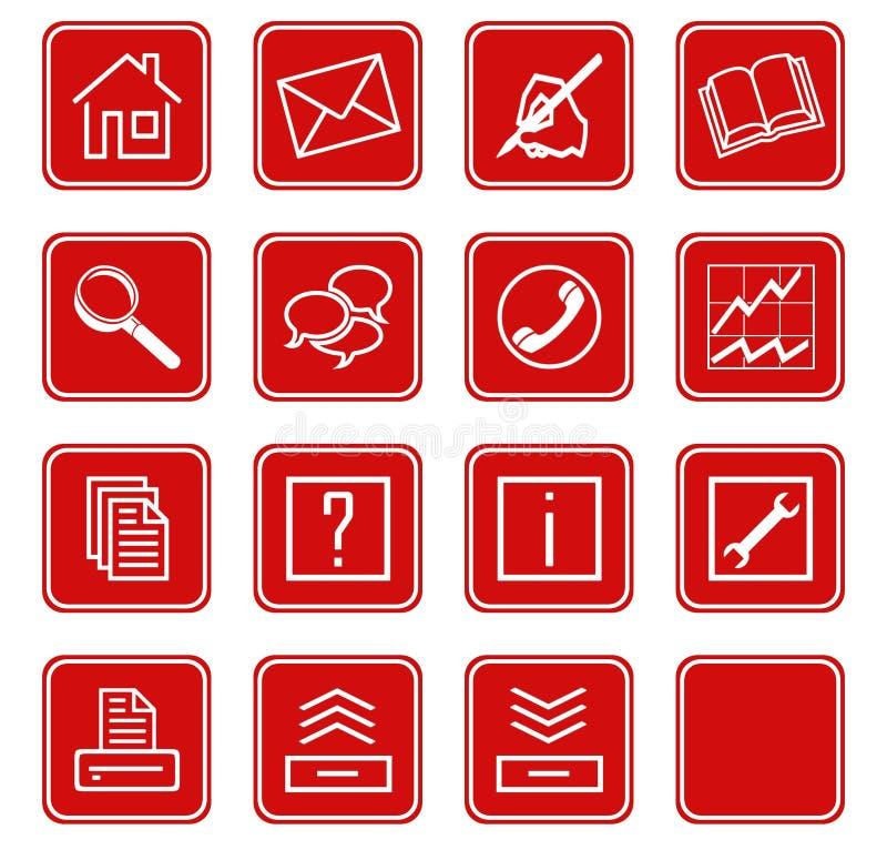 Le icone di Web hanno impostato no.2 - red.1 illustrazione vettoriale