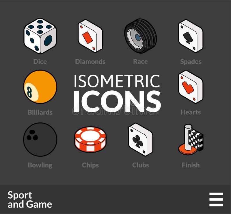 Le icone isometriche del profilo hanno messo 45 illustrazione di stock