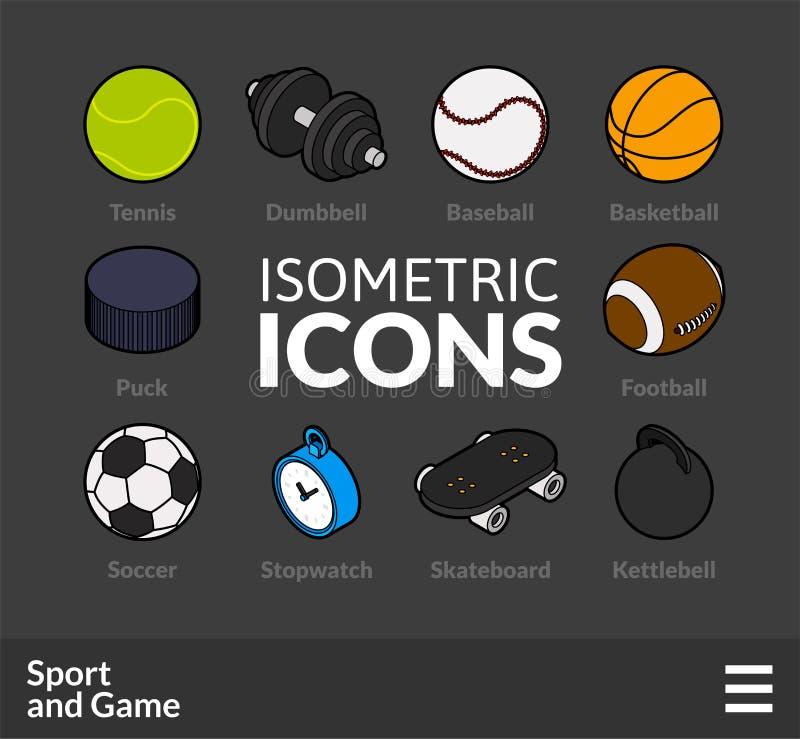 Le icone isometriche del profilo hanno messo 46 illustrazione vettoriale