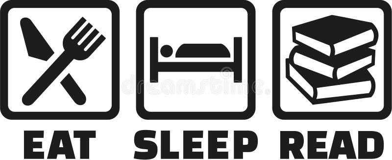 Le icone mangiano il sonno colte illustrazione di stock