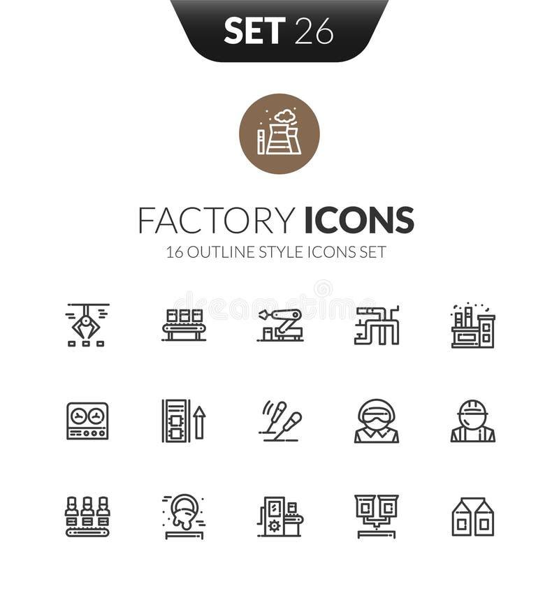 Le icone nere del profilo hanno messo nello stile sottile di progettazione moderna royalty illustrazione gratis