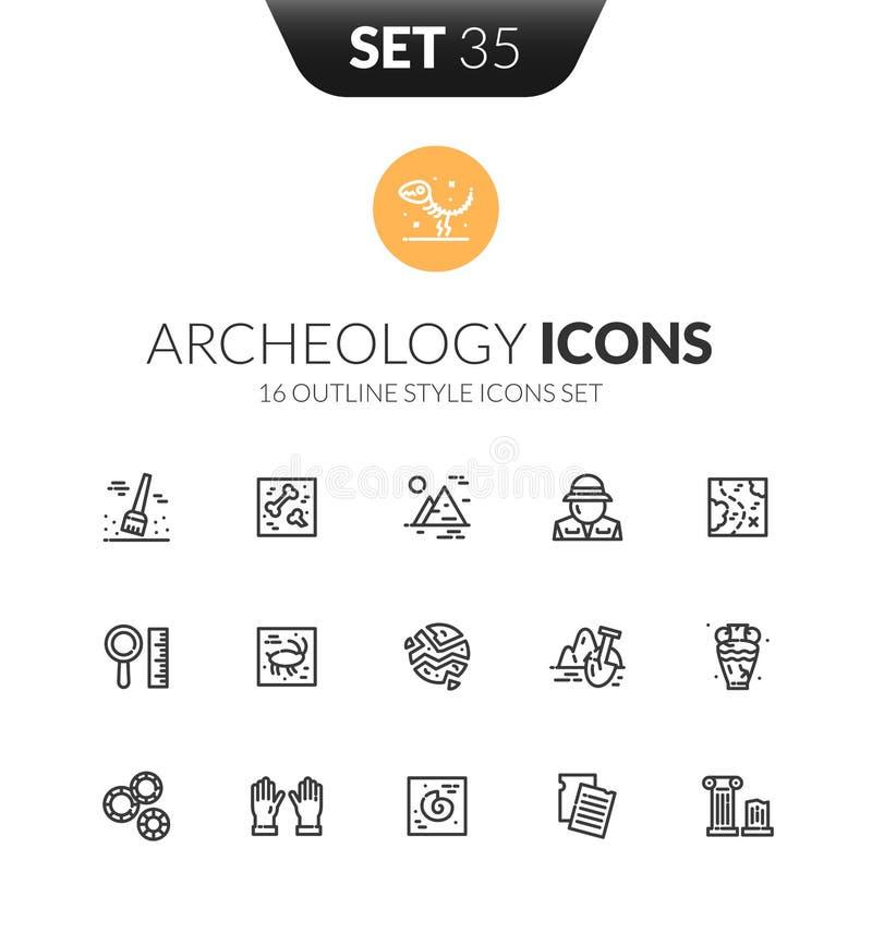 Le icone nere del profilo hanno messo nello stile sottile di progettazione moderna illustrazione di stock