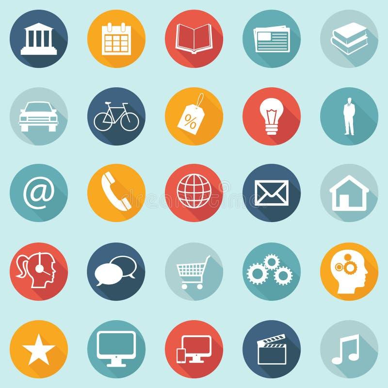 Le icone piane di progettazione - web, cellulare, App - vector EPS10 illustrazione vettoriale