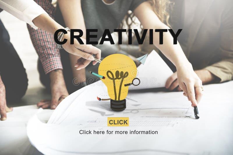 Le idee di creatività ispirano il concetto dell'innovazione immagini stock libere da diritti
