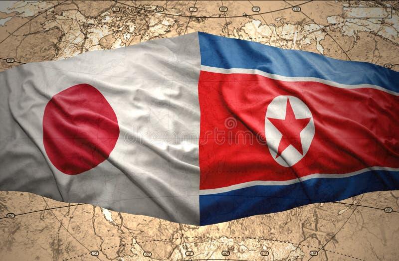 Le Japon et la Corée du Nord illustration de vecteur