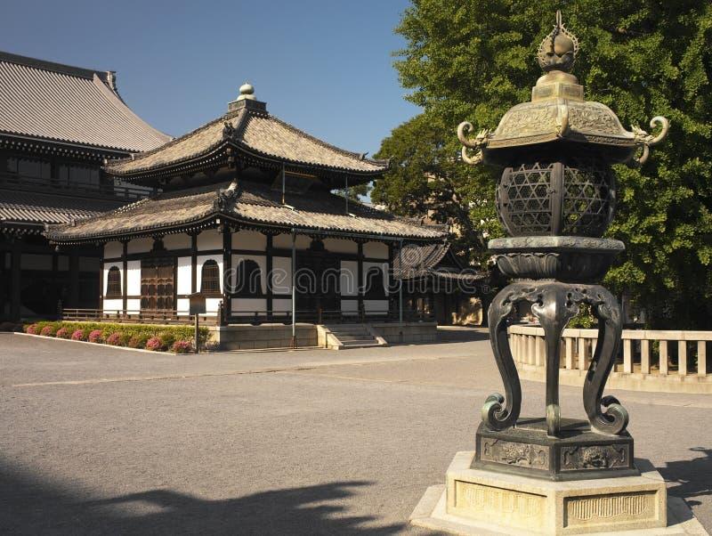Le Japon - Kyoto - temple de Nishi Honganji image stock