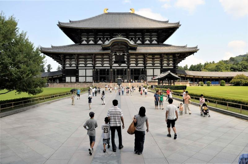 Le Japon, temple de Nara Todaiji photo libre de droits